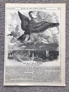 JOSEPH CHAMBERLAIN & JESSE COLLINGS LARKS BIRDS ENGRAVING 1887 Antique Print