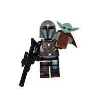 The Mandalorian with Baby Yoda TV Series Star Wars Custom Minifigure For Lego