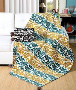 Blumen Blätter Design Jacquard Chenille Sofa/Bett Überwurf Decke Oder Kissen