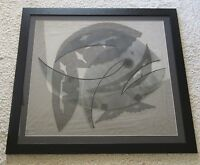 MID CENTURY LUCIA STERN MIXED MEDIUM COLLAGE CUBISM  ABSTRACT VINTAGE MODERNISM