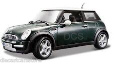 Maisto Mini Cooper Sun Roof Green 1/18 Diecast Car 31656GRN