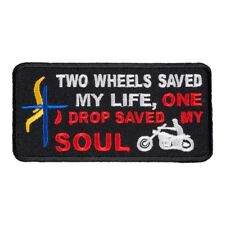 Two Wheels Saved My Life Patch, Christian Patches