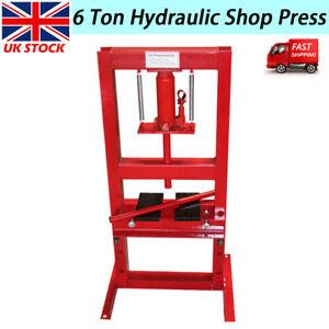 6T Hydraulic Shop Press Bench Bearing Workshop Garage Floor Standing Heavy Duty