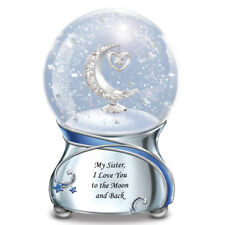 My SISTER I Love You To The Moon And Back MUSICAL Snowglobe NEW
