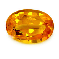 Certified Natural Ceylon Golden Yellow Sapphire 1.00ct VS Clarity Oval Sri Lanka