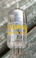Vintage Used SYLVANIA 12AT7 ECC81 Vacuum TUBE Tests 100% x 2, STRONG TUBE!