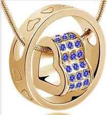 Blu Navy Color Oro Gioiello Cuore Forma Ciondolo (n15) più disponibili