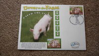2005 AUSTRALIAN ALPHA STAMP ISSUE FDC, DOWN ON THE FARM, RALPH THE PIG