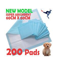 200pcs New Puppy Pet Dog Indoor Cat Toilet Training Pads 60x60cm Super Absorbent