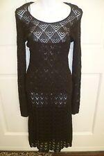 NWT Dolce & Gabbana Brown Crochet Knitted Dress & Crochet Top 2pc SZ 8/44