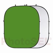 PhotoSEL BD123WG White & Chroma Key Green Photo Collapsible Background 2m x 2.4m