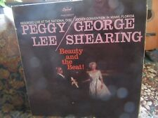 "Peggy Lee & George Shearing, ""Beauty & The Beat"" (1959 vinyl LP-T 1219)"