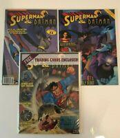 Lot of 3 Superman And Batman Magazine #1 2 3 Welsh (1993) VF/NM - NM- Sealed