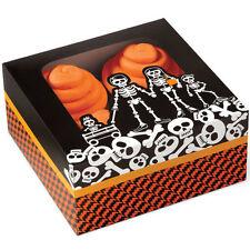 Graveyard Skeleton Halloween 4 Cavity Cupcake Boxes 3ct from Wilton 7082 NEW