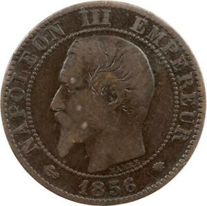 FRANCE - 5 CENTIMES - 1856 MA - NAPOLEON III - BRONZE