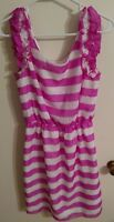 Lily Pulitzer Women's medium pink and white striped knee length dress