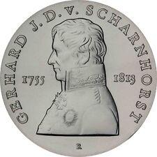 Rda 10 Mark argent 1980 stgl. Johann David de scharnhorst dans münzkapsel