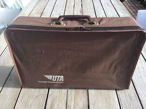 UTA Vintage Canvas Folding Suitcase 45cm Long