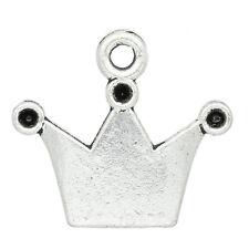 KUS 50 Königskrone Antik Silber Charms Anhänger für Bettelarmband Kette 19x17mm