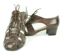 Enzo Angiolini Sandals Heels Strappy Stitched Gladiators Shoes Leather (8 M)