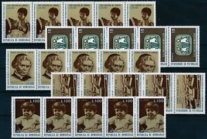 [PG20045] Honduras 1972 : 5x Good Set Very Fine MNH Airmail Stamps in Strips