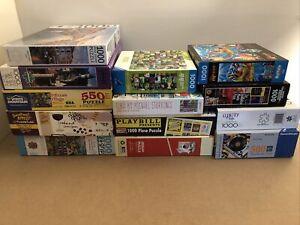 Jigsaw Puzzle Lot Of 13 NIB/EUC 500-1000pcs White Mountain Ravensburger Buffalo