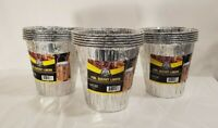 """6 Pack of Foil Bucket Liners for Pellet Grills by Pit Boss 6"""" Deep X 6"""" Wide"""