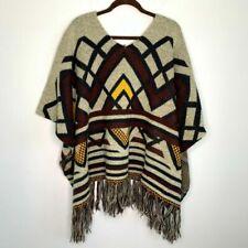 Yaira Aztec Southwestern Print Poncho One Size Fits All