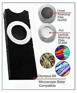 A0. Olympus BX Microscope Slider w/Polarizing Filter & Full Lambda Plate