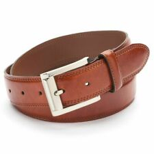 Izod Leather Belt Men's Brown Size 50 Double-stitched New