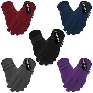 Mens Womens Insulated Fleece Gloves Ladies Super Soft Warm Winter Thermal Lined