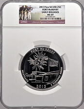 2013 5oz Silver 25C Fort McHenry Early Releases MS 69 Beautiful!