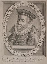 c1650 Zuniga y Requesens Mailand Spanien Niederlande Kupferstich-Porträt