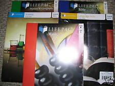 ALPHA OMEGA LIFEPAC 5 SUBJECT SET GRADE 6 STUDENT BOOKS Math Bible Science Histo