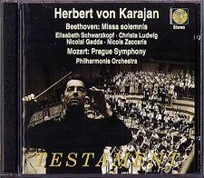 KARAJAN: BEETHOVEN Missa solemnis MOZART Symphony No.38 Prague SCHWARZKOPF 2CD