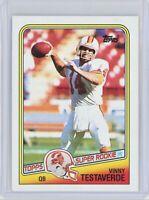 1988 Topps Football #352 VINNY TESTAVERDE Rookie RC (Buccaneers)