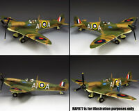 KING & COUNTRY ROYAL AIR FORCE RAF076 BRITISH SPITFIRE MK.II FIGHTER MIB