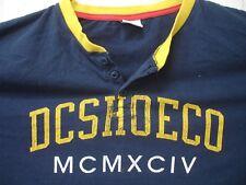 DC Shoe Co MCMXCIV Henley T Shirt Ringer XLarge Blue Yellow Skate Snowboard