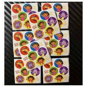 Dora Stickers - 48 Dots - 8 Sheets - Birthday Favours - Dot - Dora The Explorer