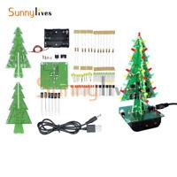 1Pcs Christmas Trees LED DIY Kit Professional Flash Green Red LED Circuit