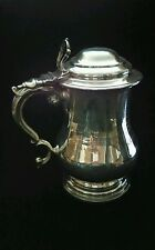 Antique English Sterling Silver Tankard  600 grams 1846-Leisy Brewing Award