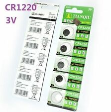 3V CR1220 DL1220 ECR1220 3 Volt Button Coin Cell Battery for CMOS watch toy x5 *