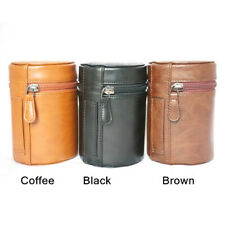 Camera Lens Case Bag retro hard PU Leather Pouch protective cover Lens barrel