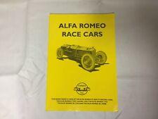 Alfa Romeo Race Cars - Unique Motor Books - Paperback