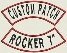 """Rocker Name Tag, Biker Patch, badge 7"""" x 2.85"""""""