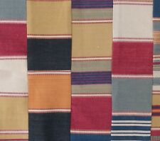 DESIGNERS GUILD Polperro red patchwork stripes cotton washable remnant new India