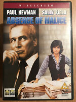 Absence of Malice DVD 1981 Court Room Drama Classic w/ Paul Newman + Sally Field