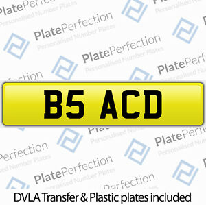 B5 ACD ADAM ANDY ASH TONY ADE CHERISHED PRIVATE NUMBER PLATE DVLA REGISTRATION