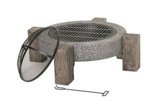 Lifestyle Calida round firepit/barbecue on legs - LFS708
