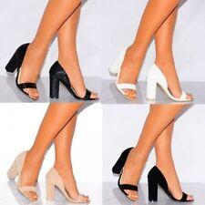 Unbranded Block Heel Peep Toes Synthetic Heels for Women